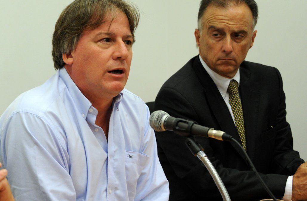 Lorenzo y Calloia juntos en la presentación del fideocomiso Orestes Fiandra para innovación en el año 2012.