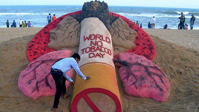 Acto del Día Mundial sin tabaco en Uruguay