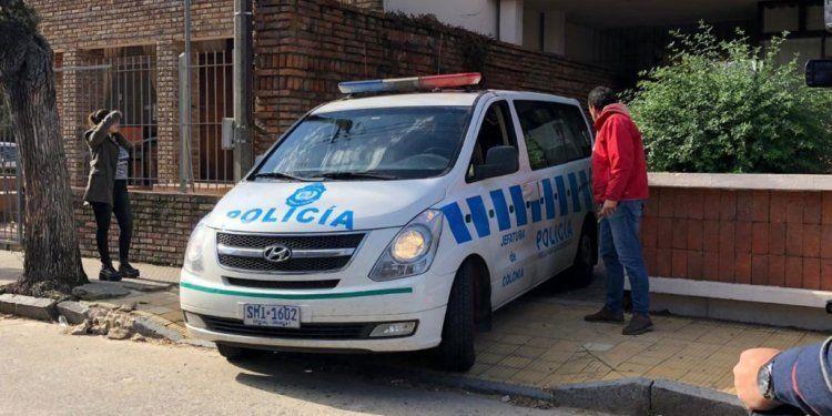 Los detenidos salen de la sede de Rosario