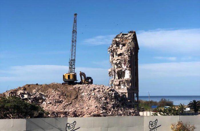 Adiós al viejo hotel San Rafael: terminó la demolición del histórico edificio