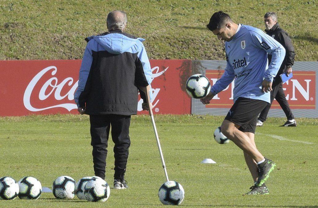 Suárez se sumó a los entrenamientos en el Complejo Celeste para la Copa América