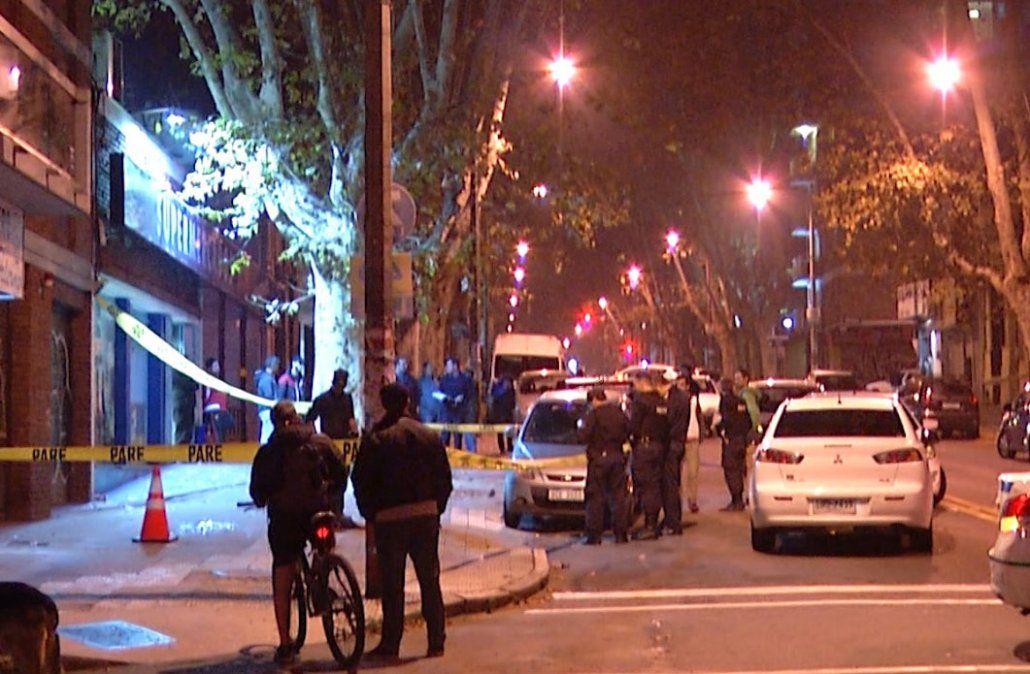 Despliegue policial minutos después de la rapiña.