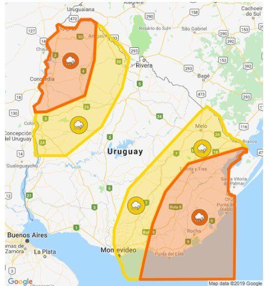 Nueva alerta por tormentas fuertes para el Norte y el Este