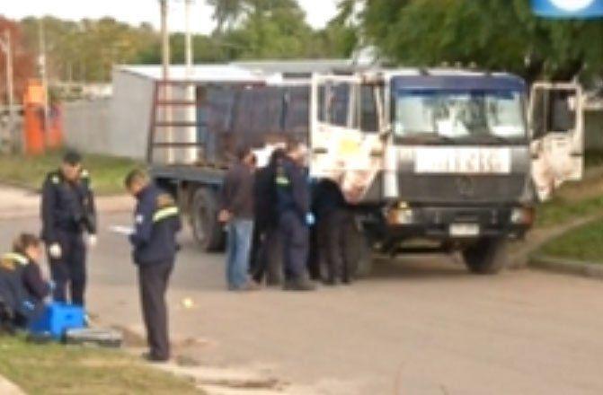 Policía Científica en Piedras Blancas minutos después del ataque