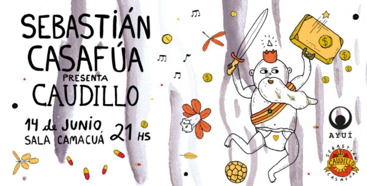 Sebastián Casafúa toca su último disco, con banda completa e invitados