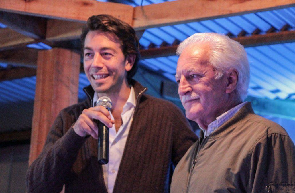 Juan Sartori junto a Alem García.