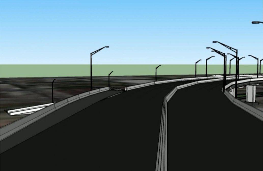 Comienzan los cortes en la Rambla Portuaria por el inicio del viaducto destinado al tren de UPM
