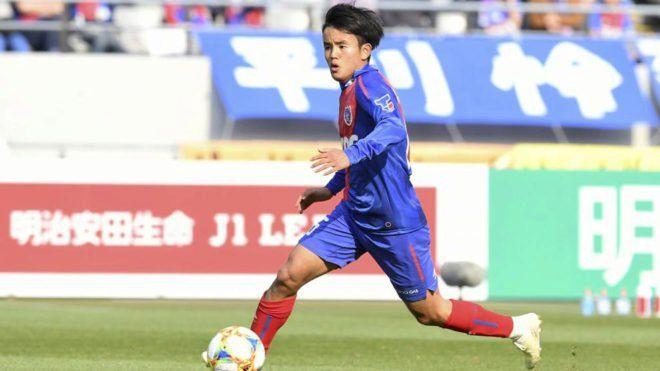 Kubo jugando para Tokio F.C. Lo quiso Barcelona y PSG también.