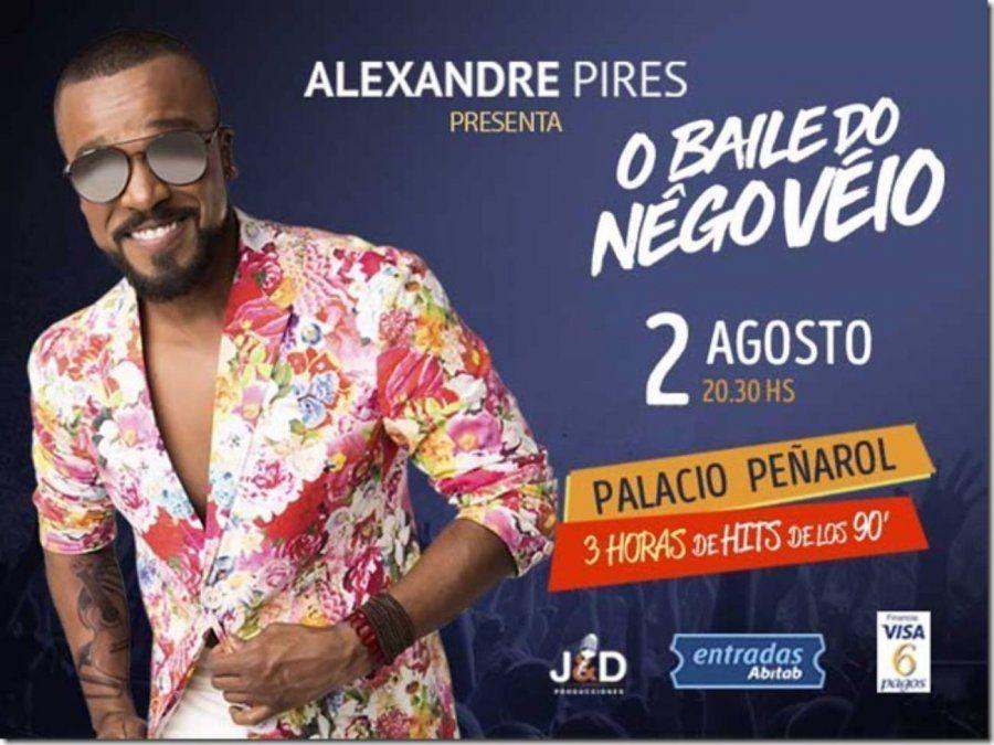 Alexandre Pire, ex vocalista de So Pra Contrariar llega a Montevideo