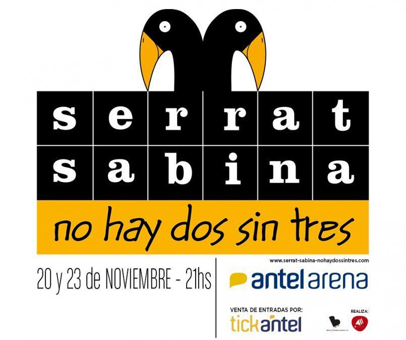 Serrat y Sabina agregan nueva función en Montevideo