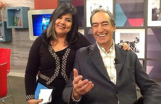 Rodríguez Tabeira junto a María Inés Obaldía en una visita a la Mañana en Casa de Canal 10
