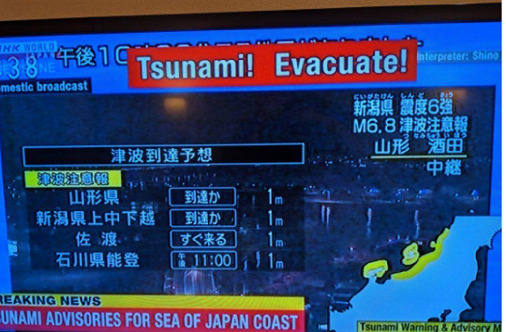 Terremoto y alerta de tsunami en la costa noroeste de Japón