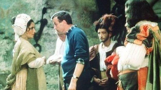 Zeffirelli con Elizabeth Taylor en La Fierecilla domada (1967)