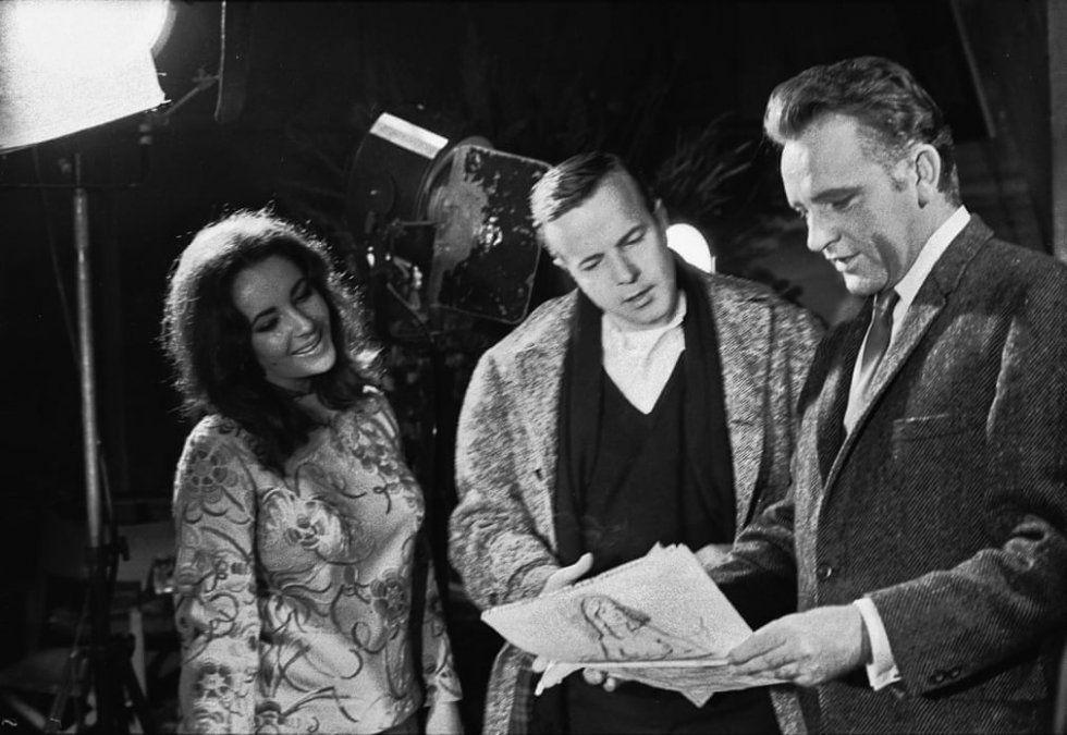 Junto a dos de sus actores preferidos: Liz Taylor y Ruichard Burton