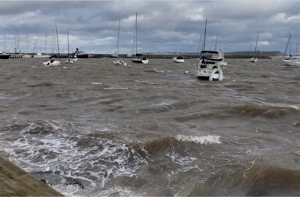 Los vientos más fuertes se registraron en Punta del Este, con rachas de 98 km/h