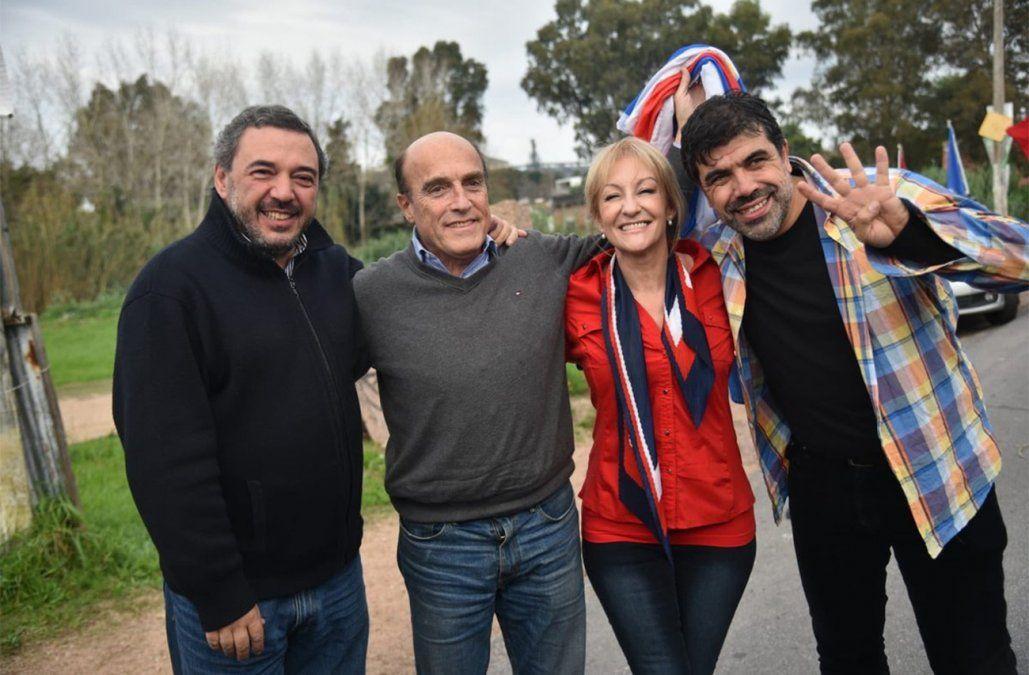 Foto: (Frente Amplio en Twitter) Los cuatro precandidatos