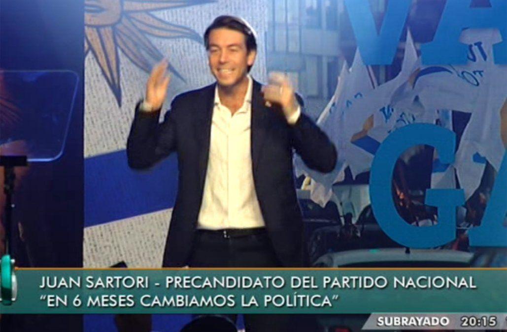 Sartori cerró su campaña dejando de lado la confrontación con otros grupos del partido nacional
