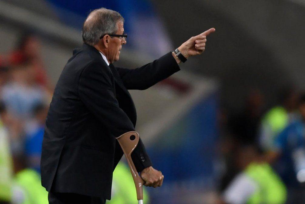 Fue un partido muy duro dijo Tabárez tras la victoria de Uruguay sobre Chile