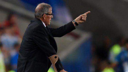 """""""Fue un partido muy duro"""" dijo Tabárez tras la victoria de Uruguay sobre Chile"""