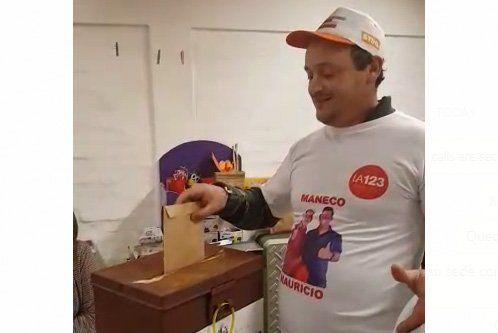 Maneco votó y espera los resultados con expectativas de cara a mayo