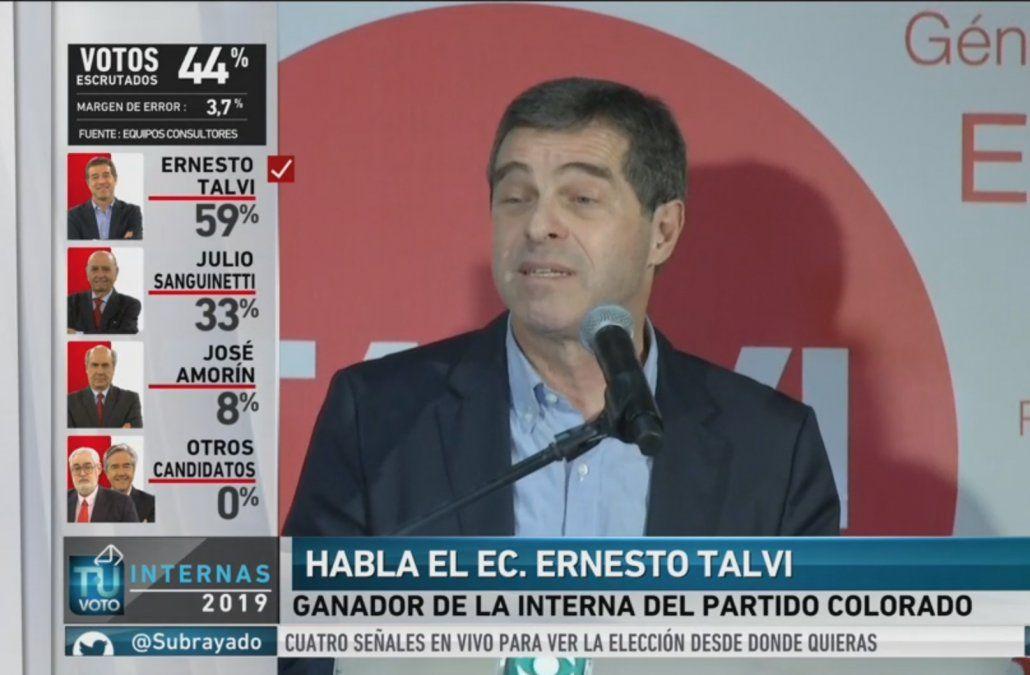 Vinimos para cambiar el rumbo del país y ustedes hicieron historia, dijo Talvi
