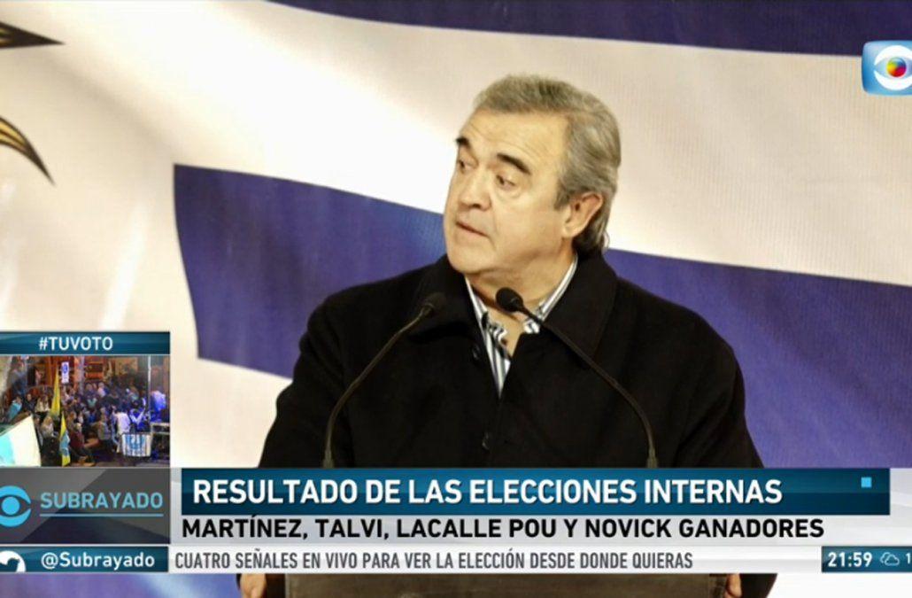 Larrañaga se paró como un combatiente blanco y ahora va por el plebiscito de octubre