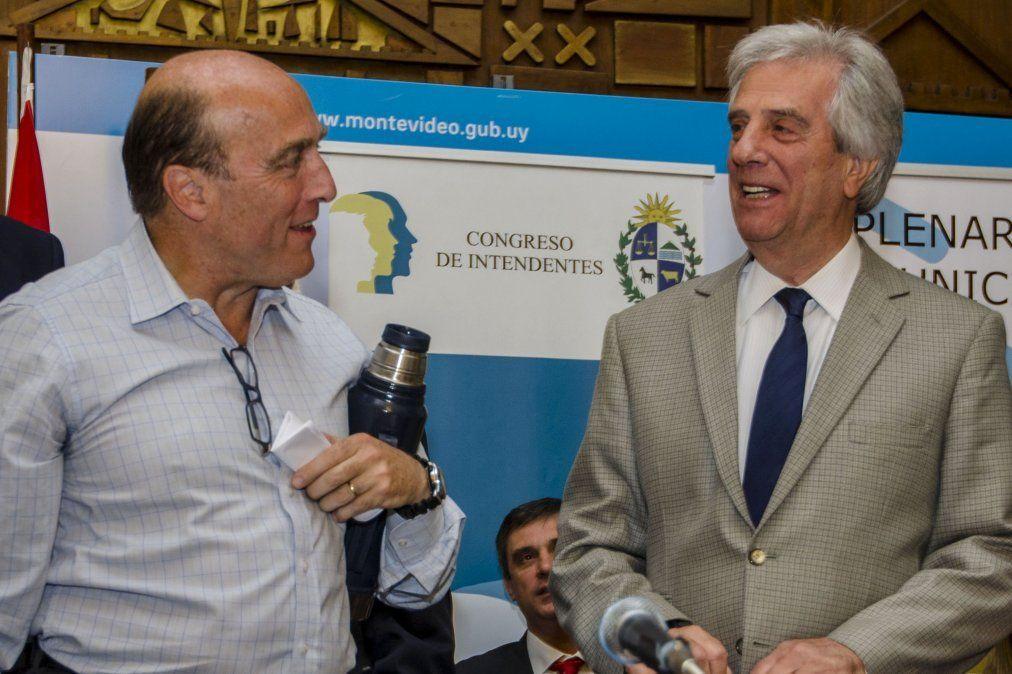 Gira presidenciable de Daniel Martìnez con Vázquez, Mujica y Javier Miranda del FA
