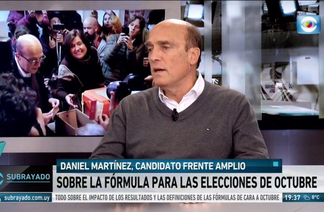 Martínez dijo que su compañera de fórmula puede salir de los movimientos sociales