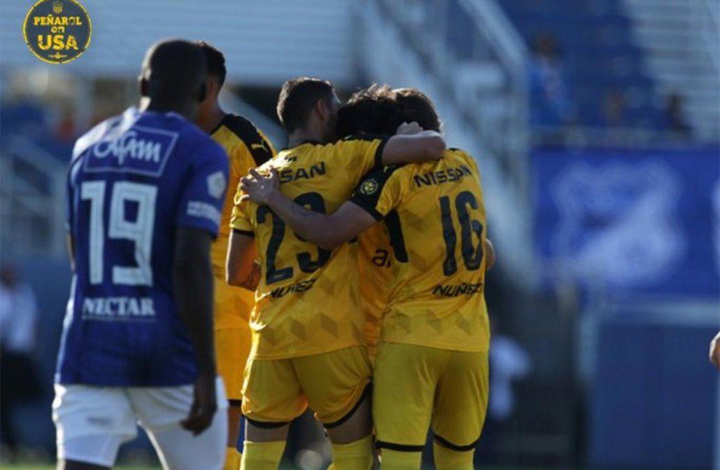 Peñarol le ganó 3-1 a Millonarios de Colombia en Estados Unidos