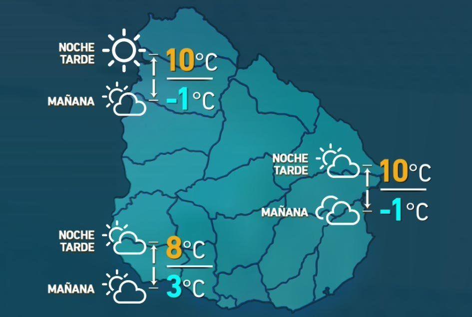 Fin de semana gélido con temperaturas bajo cero en varias zonas del país