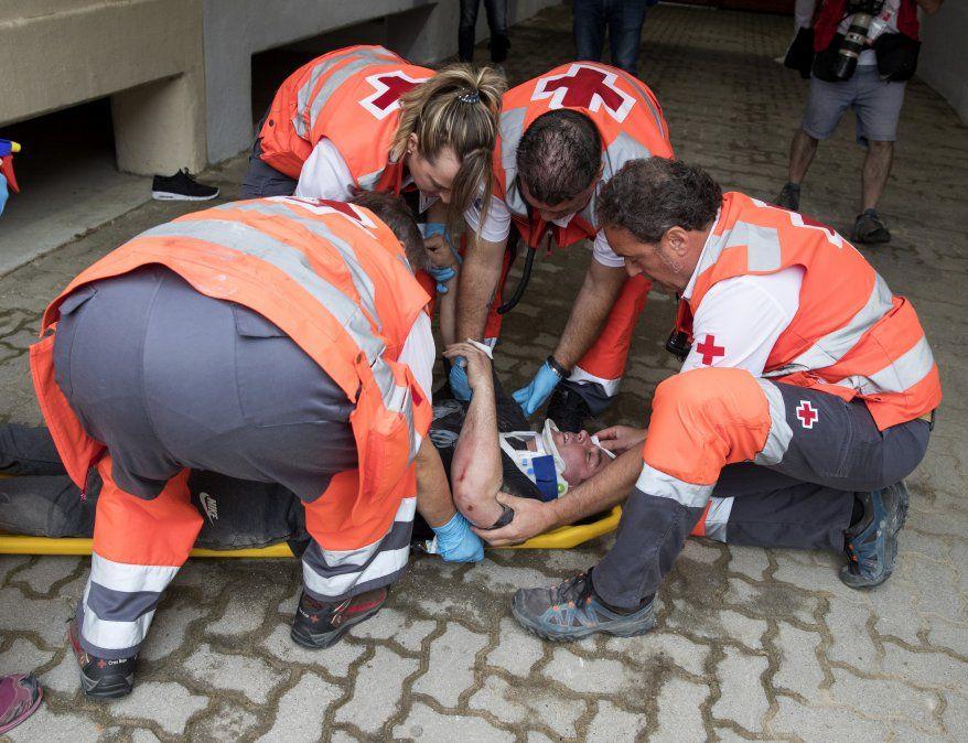 Tres personas heridas por asta de toro en primer encierro de Sanfermines