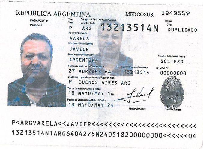 Nicola Asisi transitaba con una cédula falsa argentina bajo la identidad de Javier Varela.
