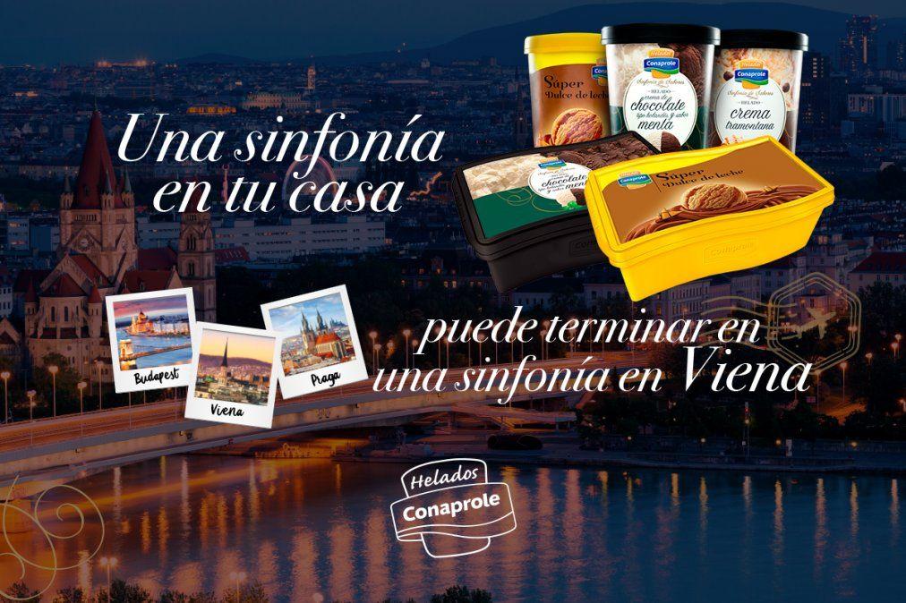 Conaprole sortea viajes a Viena, Praga y Budapest con su Sinfonía de sabores