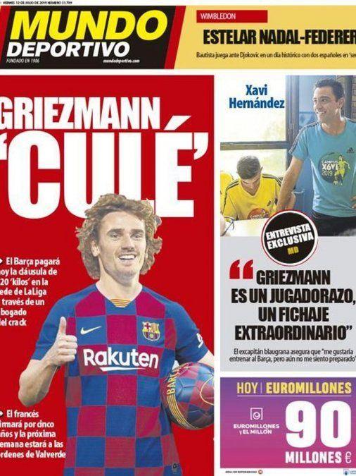 Mundo Deportivo -órgano oficioso del Barcelona- tituló así su edición de este viernes 12 de julio