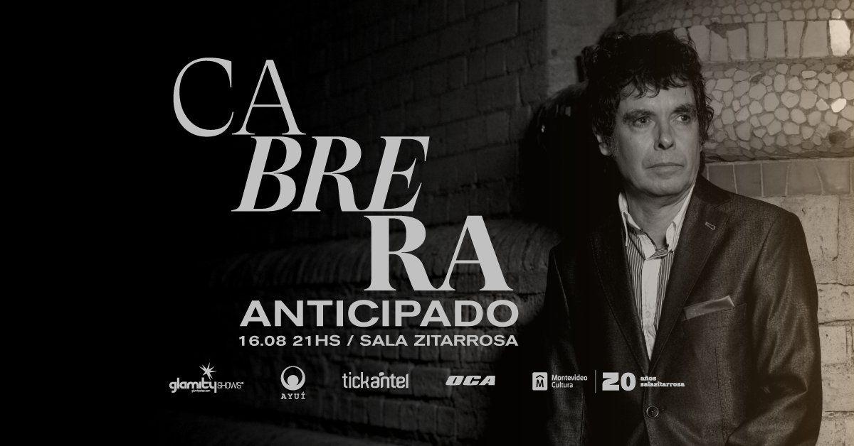 Fernando Cabrera presenta su show Anticipado en la Sala Zitarrosa