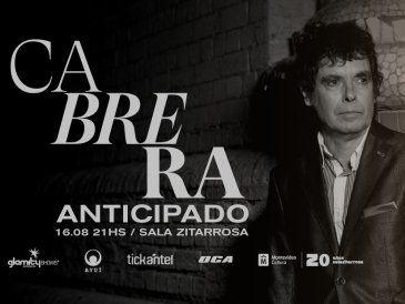 """Fernando Cabrera presenta su show """"Anticipado"""" en la Sala Zitarrosa"""