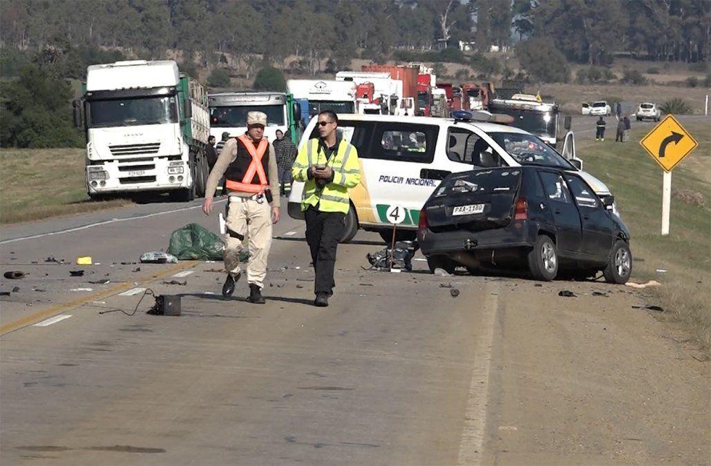 Un hombre murió tras choque frontal entre un auto y un camión en ruta 8