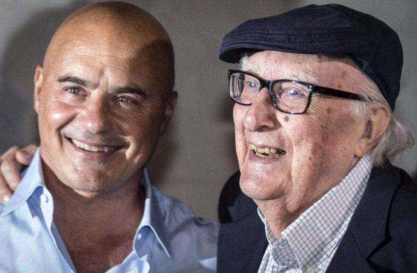 Camilleri con el actor Luca Zingaretti