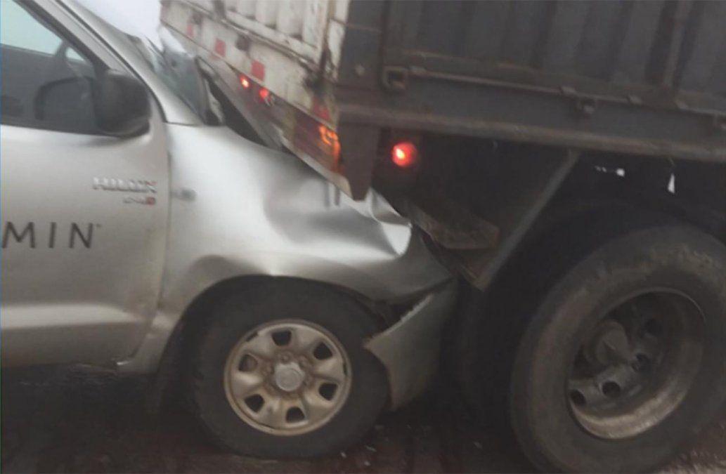 Diez vehículos chocaron en Ruta 5 por la baja visibilidad a causa de la niebla
