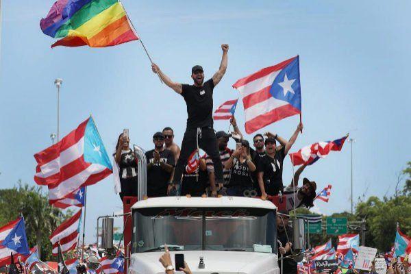 Ricky Martin lidera las protestas. Fue uno de los personajes ridiculizados en los chats del gobernador