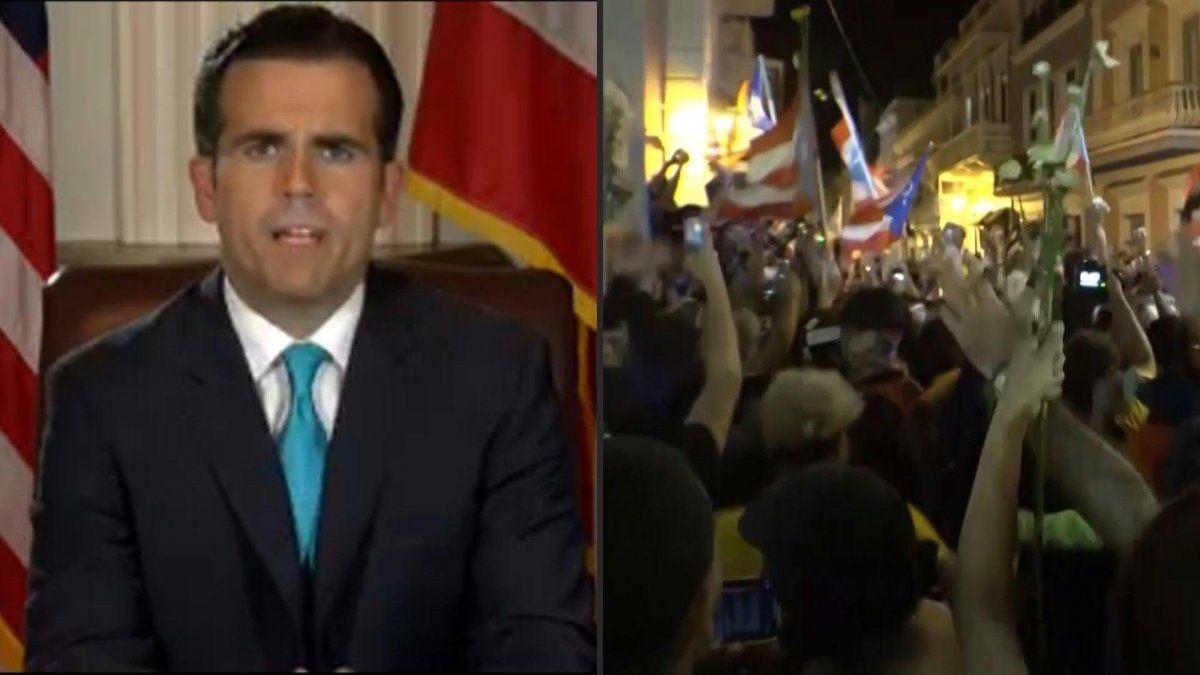 Renuncia el gobernador de Puerto Rico tras dos semanas de protestas