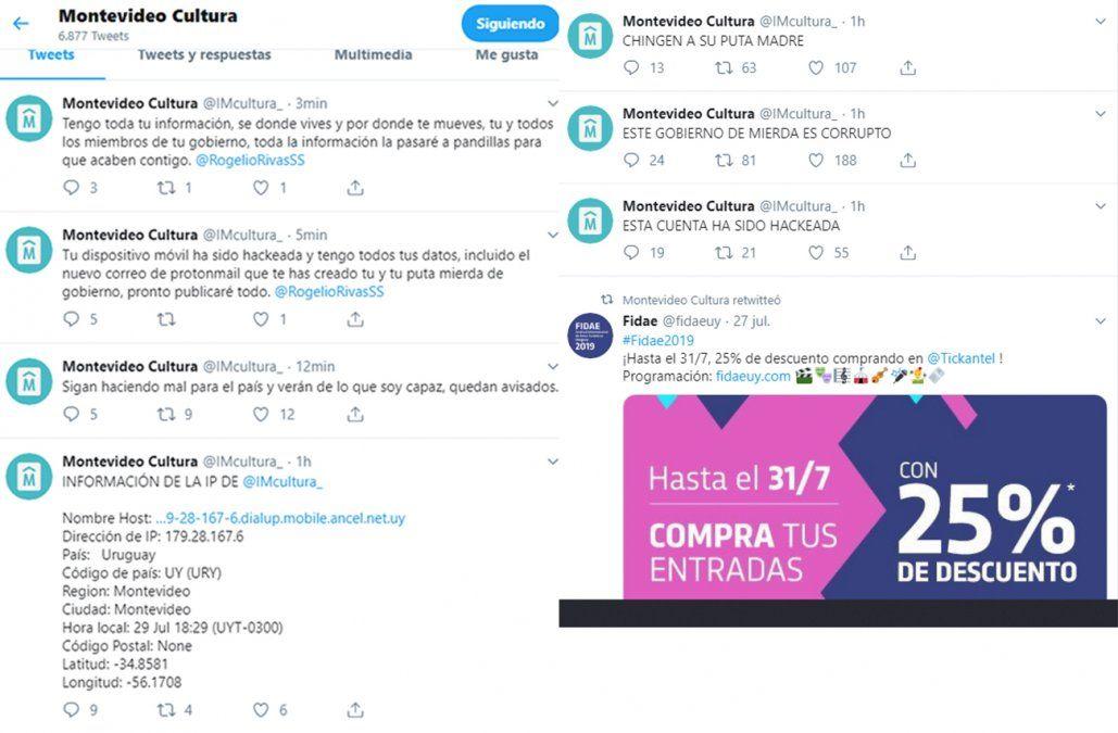 Hackearon la cuenta de la Dirección de Cultura en Twitter y la usaron para insultar