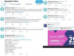 altText(Hackearon la cuenta de la Dirección de Cultura en Twitter y la usaron para insultar)}
