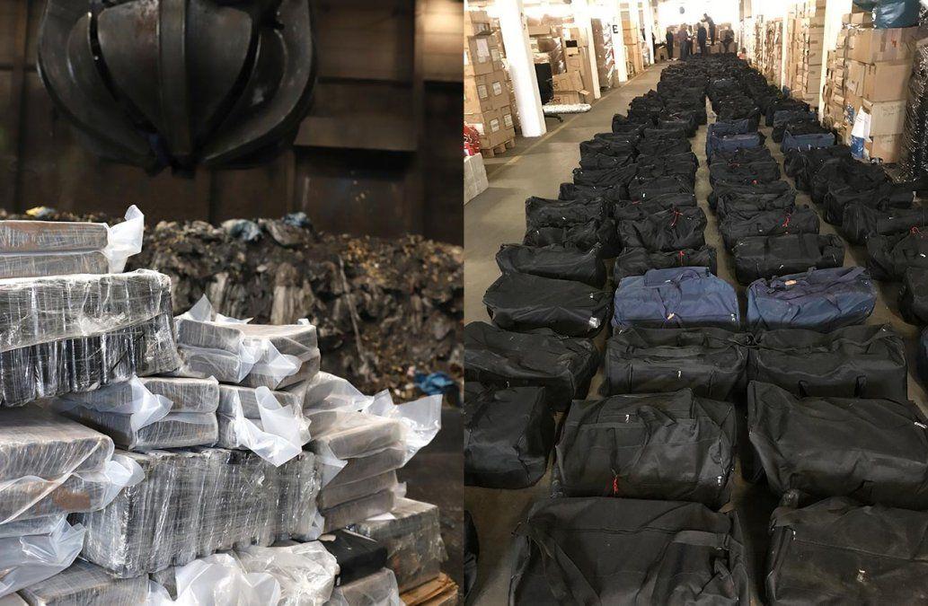 Incautan cuatro toneladas y media de cocaína en Alemania enviada desde Uruguay