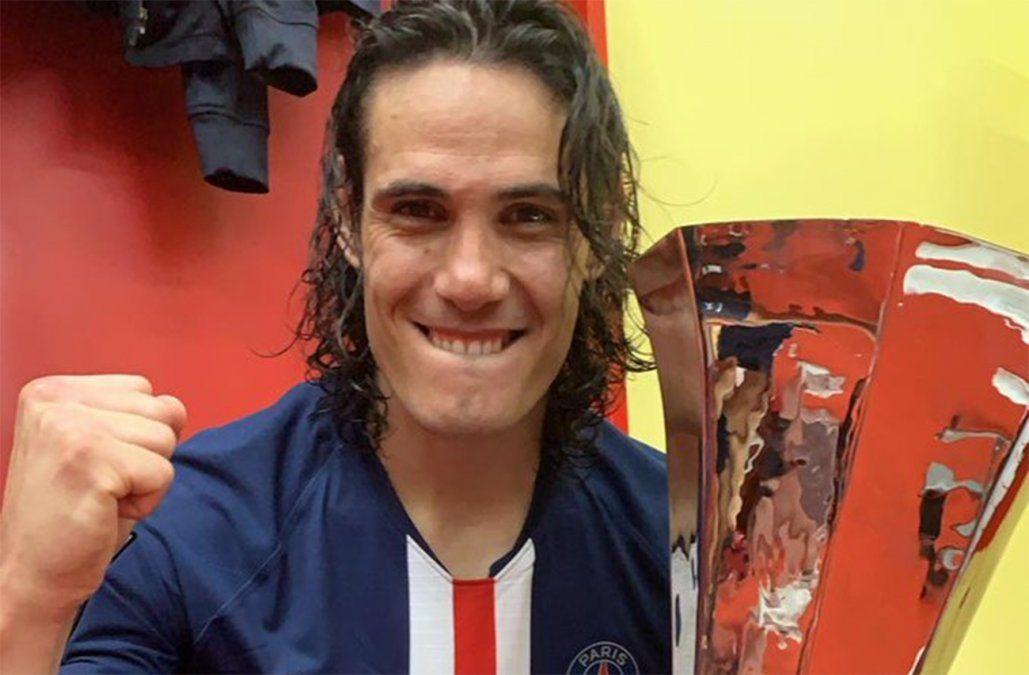 Cavani comienza la temporada con otro título: ganó el Trofeo de Campeones al Rennes
