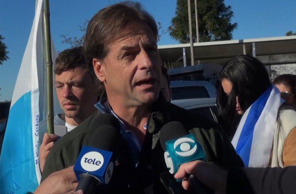 Lacalle Pou: No me conforma la renuncia del director de Aduanas