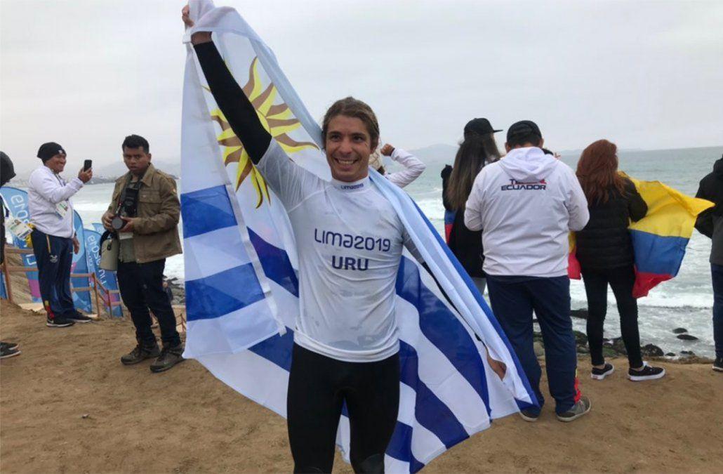 El surfista uruguayo Schweizer ganó medalla de plata en Panamericanos