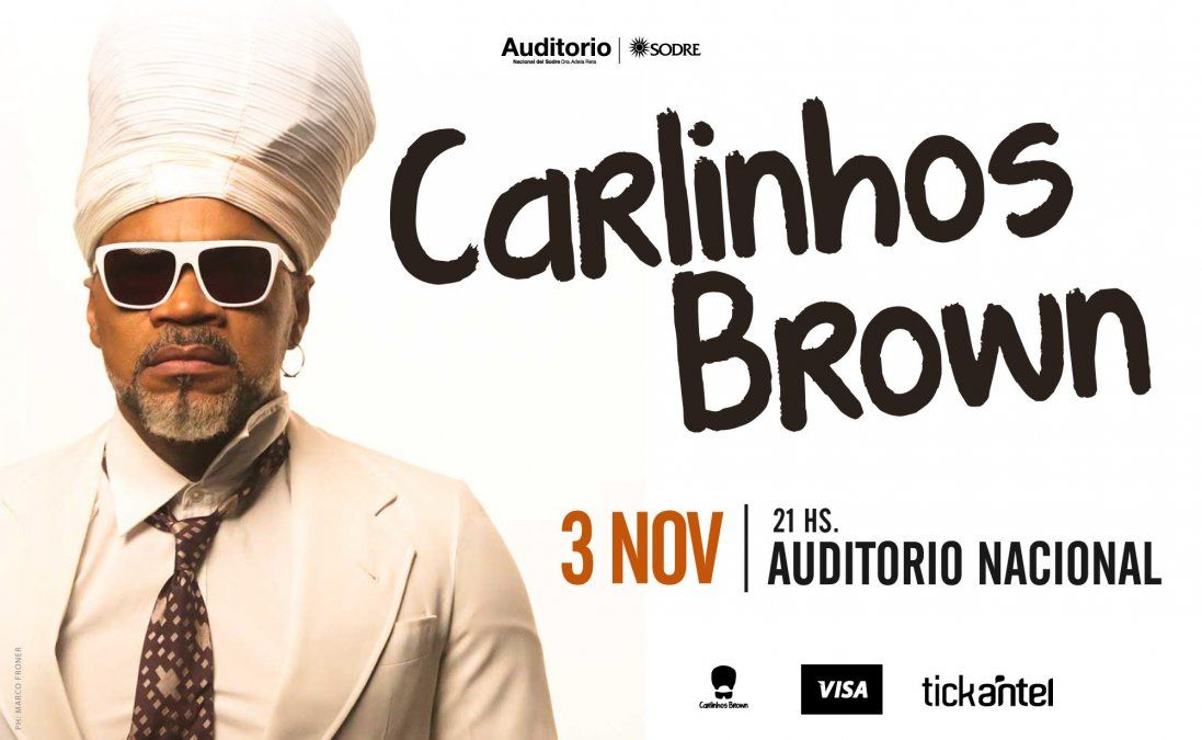 Carlinhos Brown, integrante de Tribalistas, se presenta en Montevideo