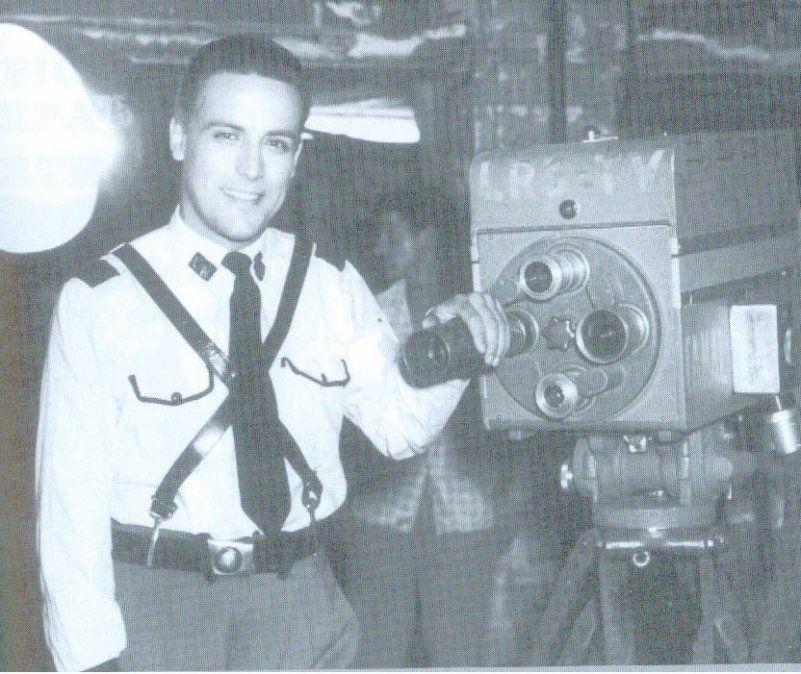 Zerpa en sus comienzos como actor.