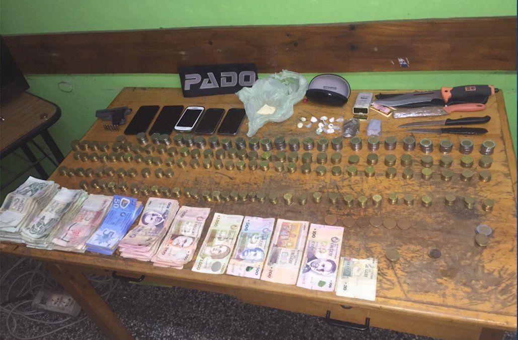 Incautaron drogas, armas y dinero en un procedimiento en la zona del Parque Rodó